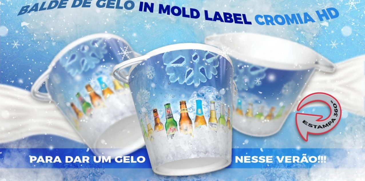 Balde de gelo In mold label